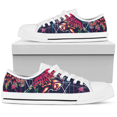 Mythical Owl Geometric Men Low Top Canvas Shoes