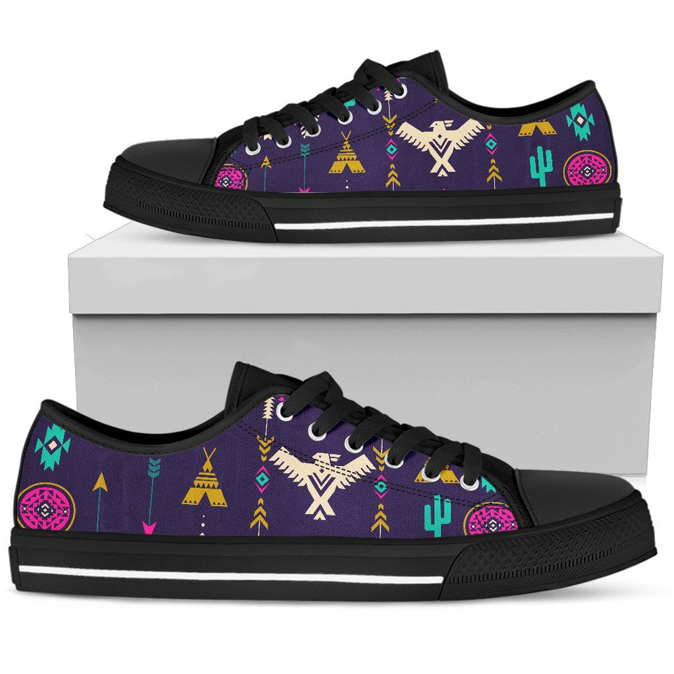 269ac534bf Native American Eagle Indian Pattern Men Low Top Canvas Shoes – JorJune