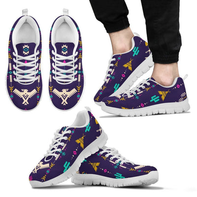 Native American Eagle Indian Pattern Men Sneakers