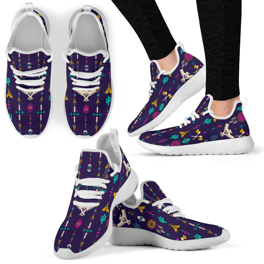 a8e39b51c5 Native American Eagle Indian Pattern Mesh Knit Sneakers Shoes – JorJune