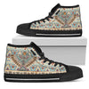 Native American Eagle Pattern Men High Top Canvas Shoes
