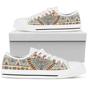 388897309b Native American Eagle Pattern Men Low Top Canvas Shoes – JorJune
