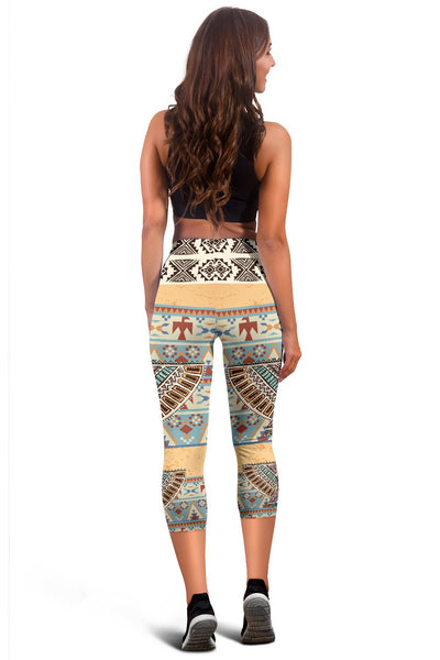 Native American Eagle Pattern Women Capris