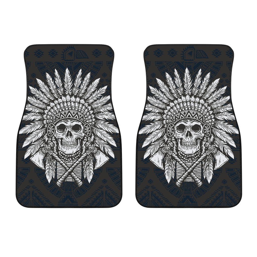 Native American Indian Skull Car Floor Mats