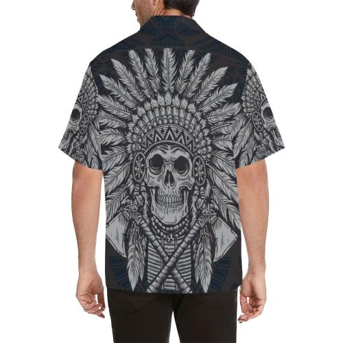 Native American Indian Skull Men Hawaiian Shirt