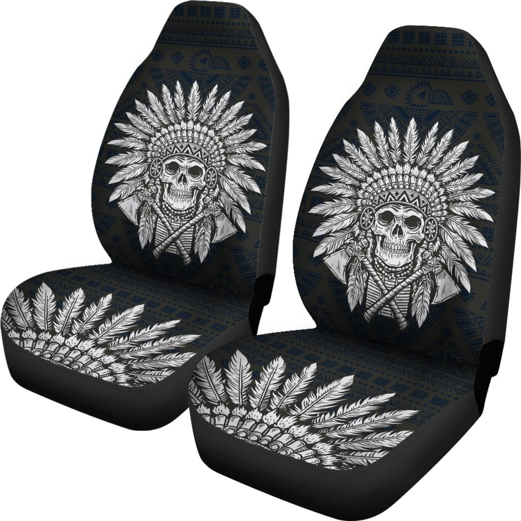 Native American Indian Skull Universal Fit Car Seat Covers Jorjune