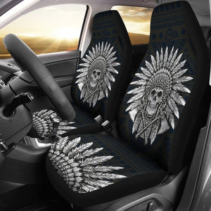 Native American Indian Skull Universal Fit Car Seat Covers