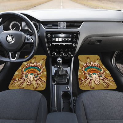 Native Indian Buffalo Head Car Floor Mats