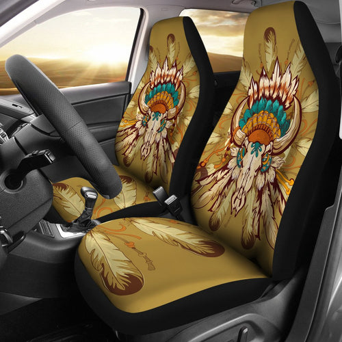 Native Indian Buffalo head Universal Fit Car Seat Covers