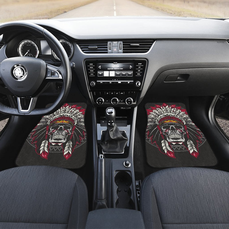 Native Indian Skull Car Floor Mats