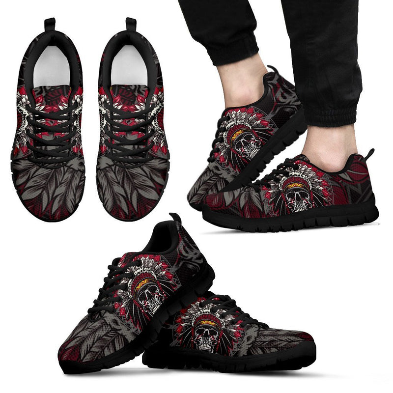 Native Indian Skull Men Sneakers