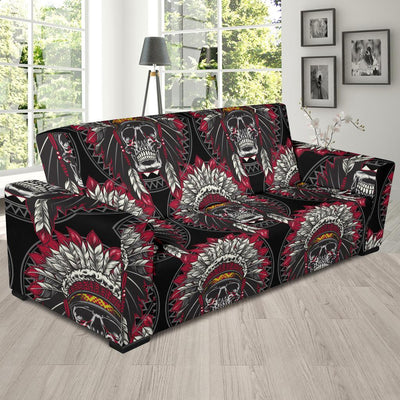 Native Indian Skull Sofa Slipcover-JORJUNE.COM
