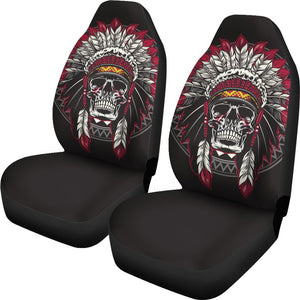 Native Indian Skull Universal Fit Car Seat Covers