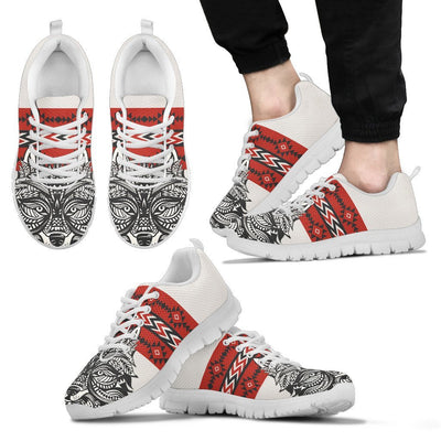 Native Indian Wolf Men Sneakers