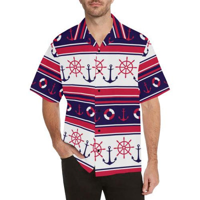 Nautical Anchor Casual Men Hawaiian Shirt