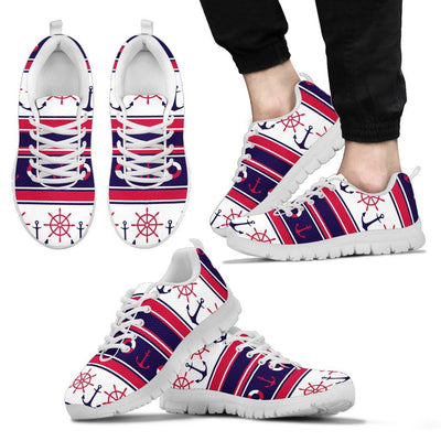 Nautical Anchor Casual Men Sneakers