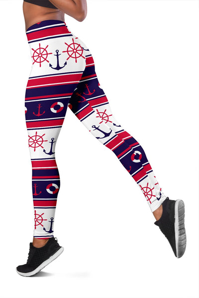 Nautical Anchor Casual Women Leggings