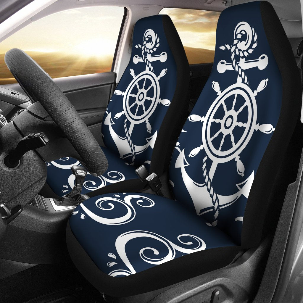 Nautical Anchor Lost My Heart Universal Fit Car Seat Covers JorJune
