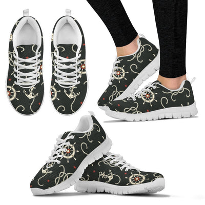 Nautical Anchor Pattern Women Sneakers