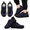 Nautical Anchor Rope Pattern Men Sneakers