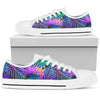Neon Flower Tropical Palm Leaves Men Low Top Shoes