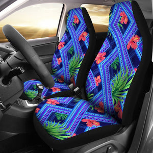 Neon Hibiscus Hawaiian tropical Universal Fit Car Seat Covers