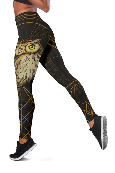 Owl Geometric Line Women Leggings