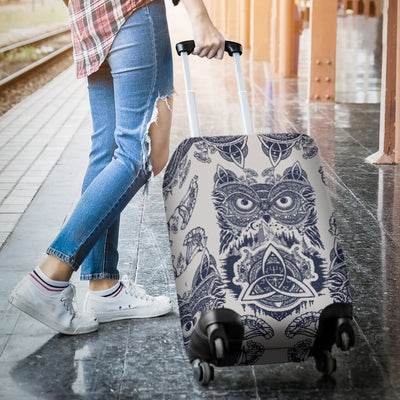Owl Ornamental Luggage Cover Protector