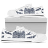 Owl Ornamental Men Low Top Canvas Shoes