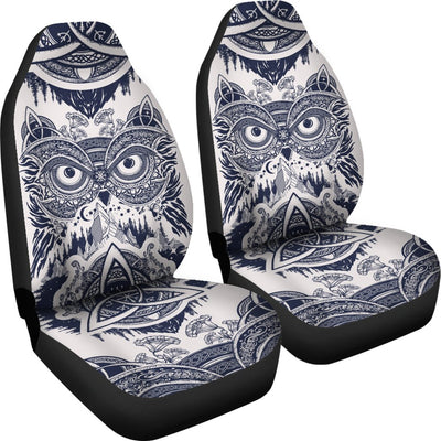 Owl Ornamental Universal Fit Car Seat Covers