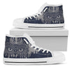 Owl Ornamental Women High Top Canvas Shoes
