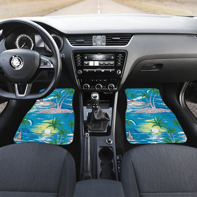 Palm Tree Beach Car Floor Mats