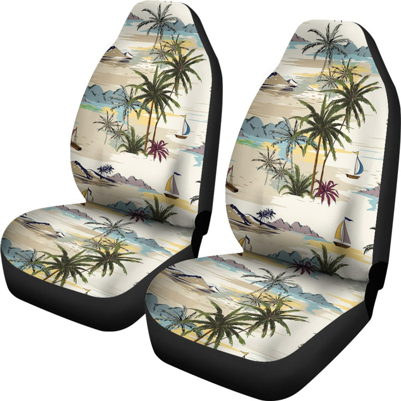 Palm Tree Beach Print Universal Fit Car Seat Covers