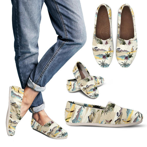 Palm Tree Beach Print Women Casual Shoes-JorJune.com