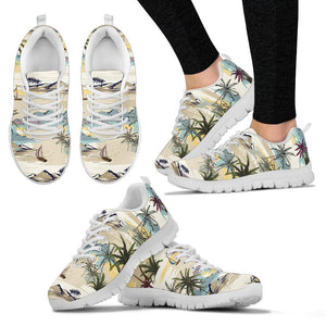 Palm Tree Beach Print Women Sneakers
