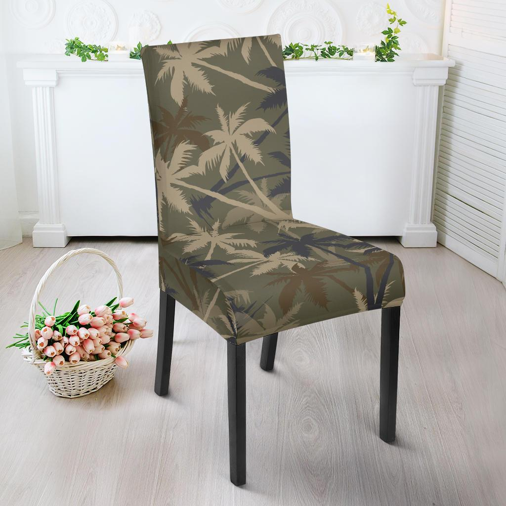 Palm Tree camouflage Dining Chair Slipcover-JORJUNE.COM