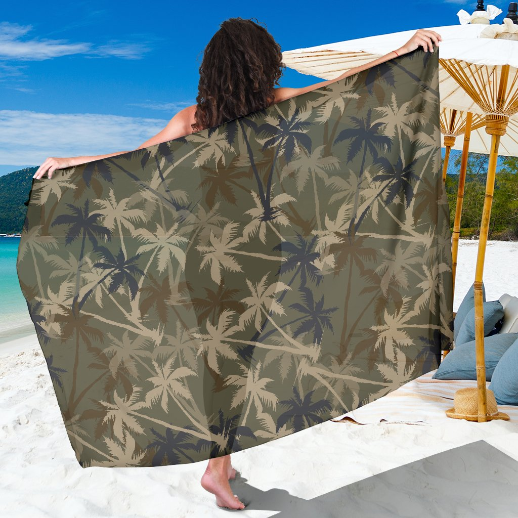Palm Tree Camouflage Sarong Pareo Wrap