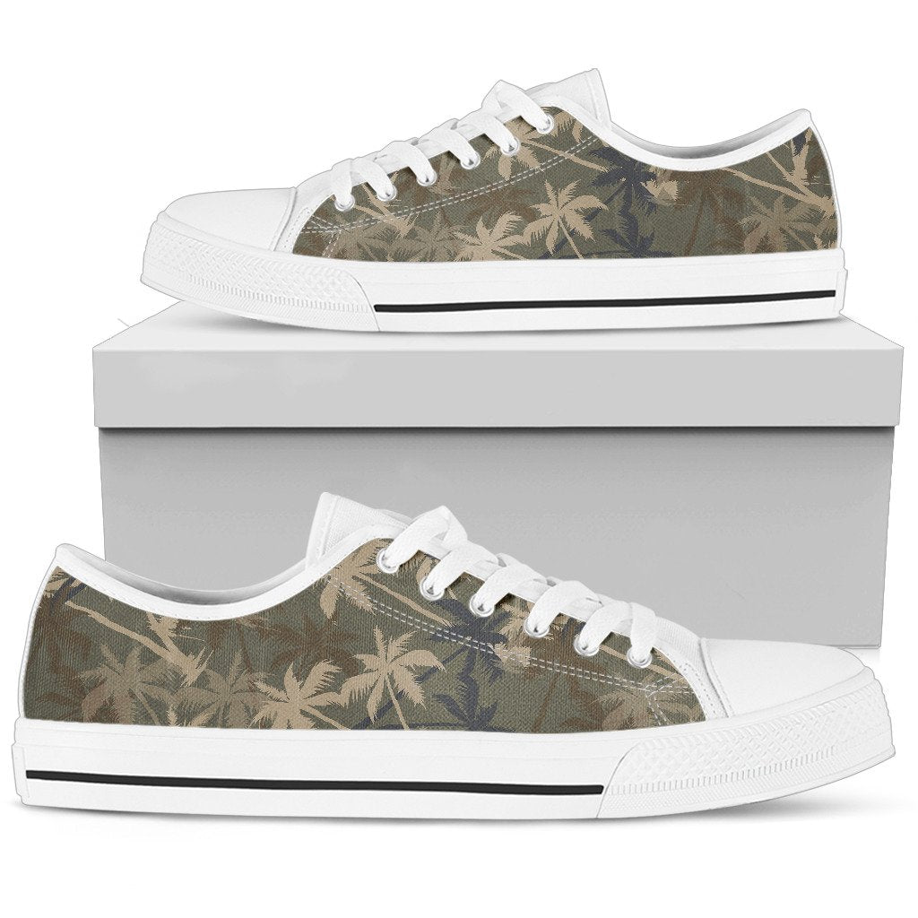 Palm Tree camouflage Women Low Top Shoes