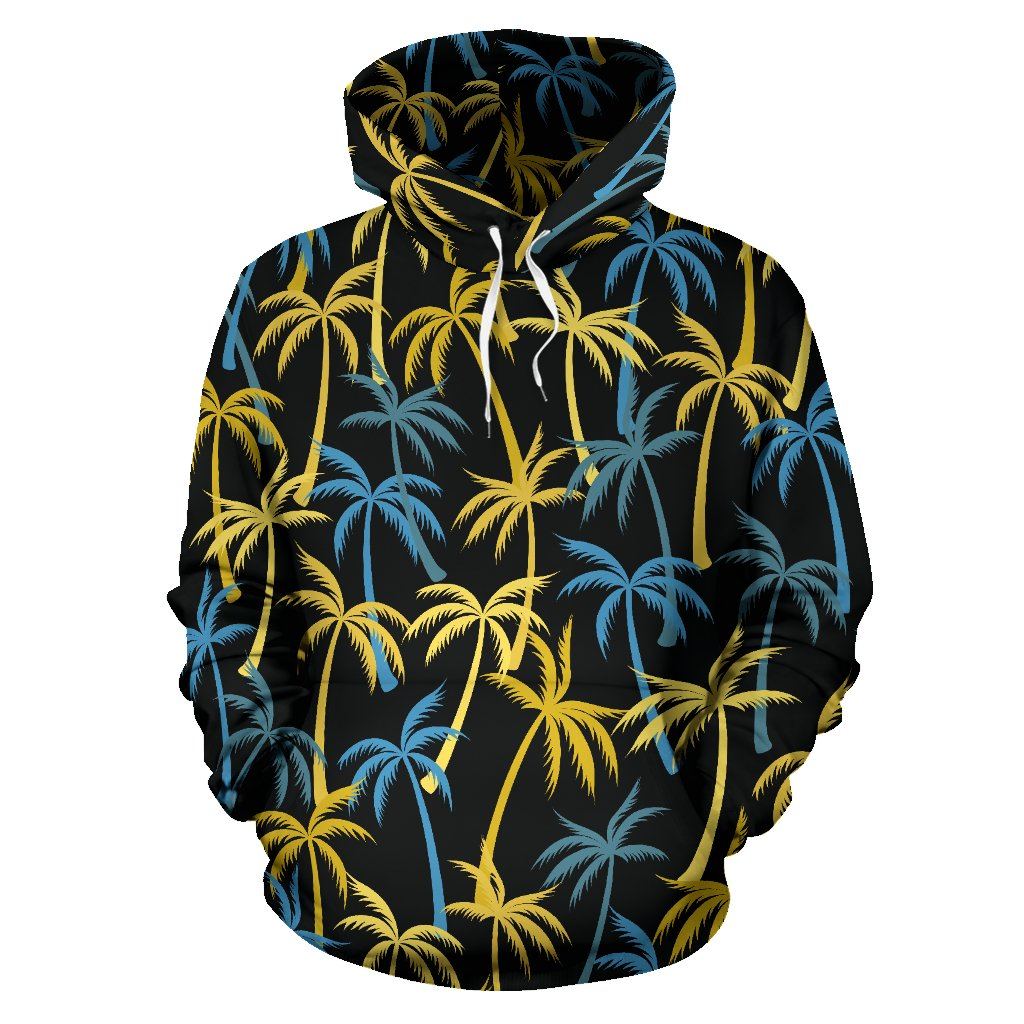 Palm Tree Pattern All Over Print Hoodie