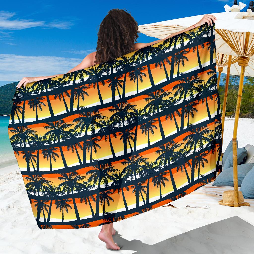 Palm Tree Pattern Print Design PT011 Sarong Pareo Wrap-JORJUNE.COM