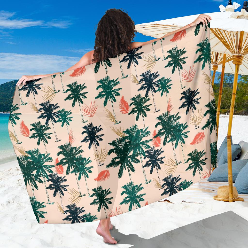 Palm Tree Pattern Print Design PT014 Sarong Pareo Wrap-JORJUNE.COM