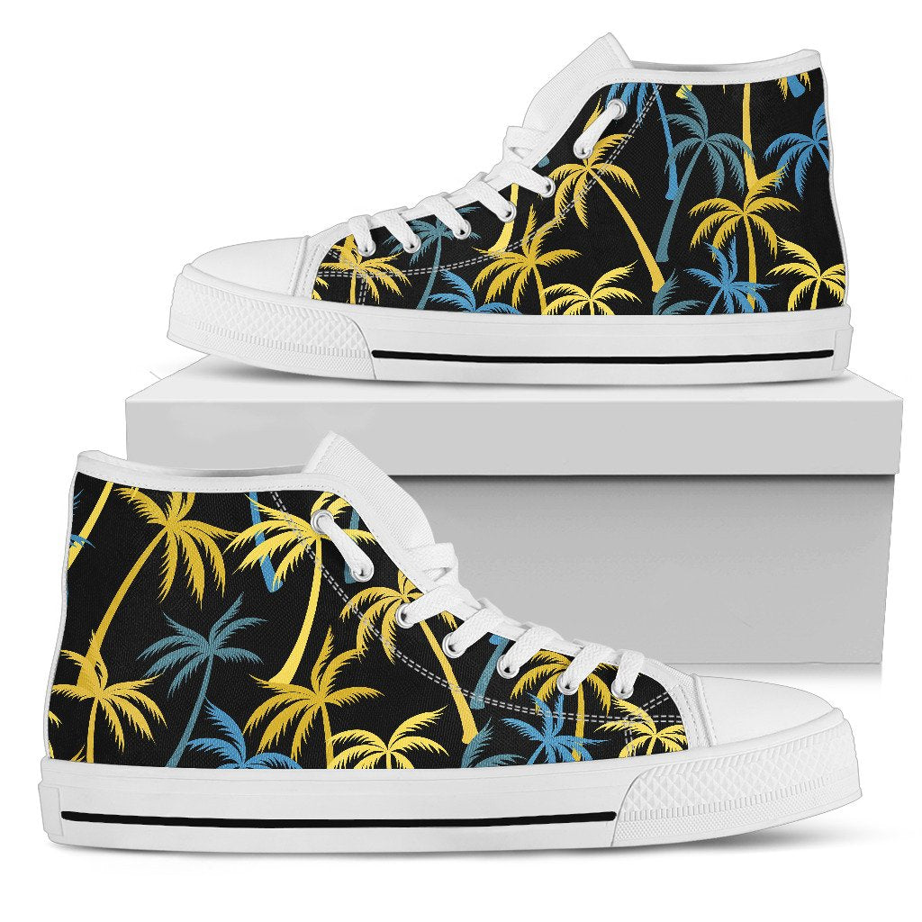 Palm Tree Pattern Women High Top Shoes