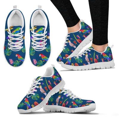 Parrots printed embroidered Style Women Sneakers