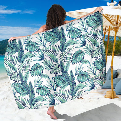 Pattern Tropical Palm Leaves Beach Sarong Pareo Wrap