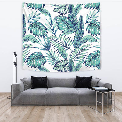 Pattern Tropical Palm Leaves Wall Tapestry