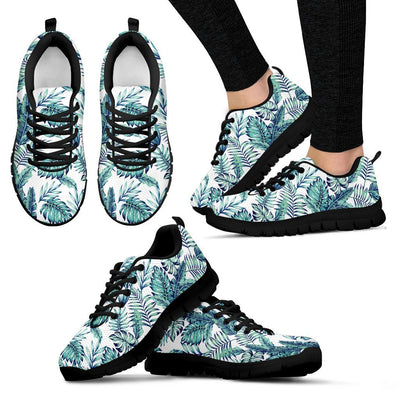 Pattern Tropical Palm Leaves Women Sneakers
