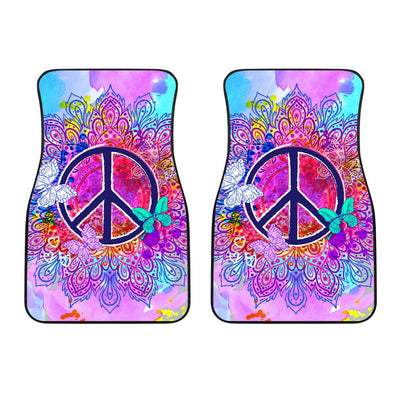 Peace Blue Mandla Car Floor Mats