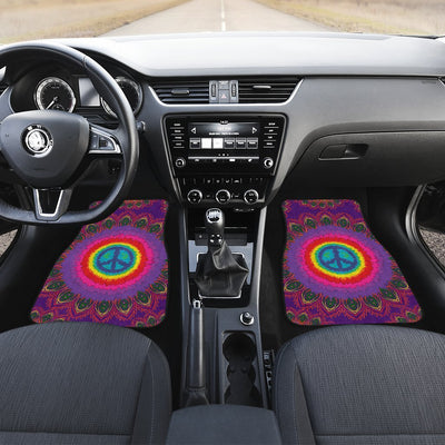 Peace Hippie Tie Dry Car Floor Mats