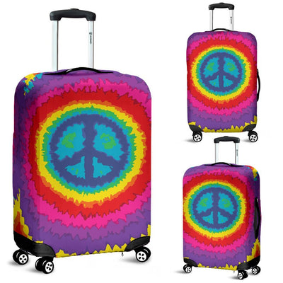 Peace Hippie Tie Dry Luggage Cover Protector
