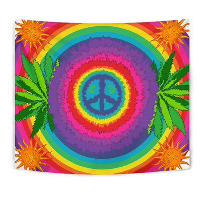 Peace Hippie Tie Dry Wall Tapestry